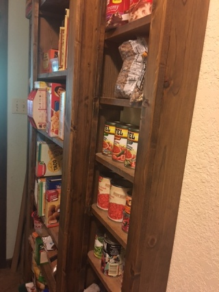 Pantry Shelves, a distraction for a time