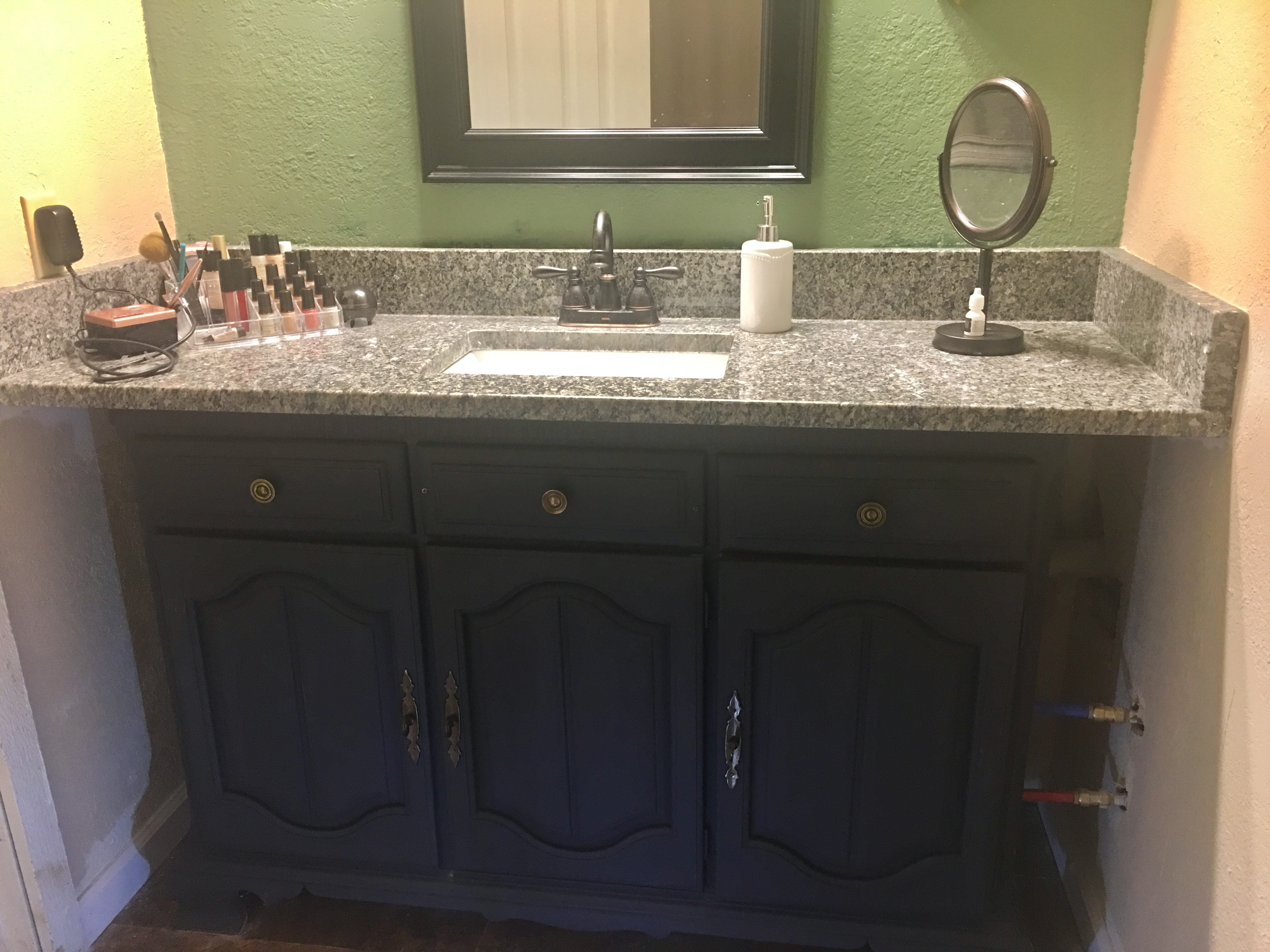 chalk painted buffet, now vanity
